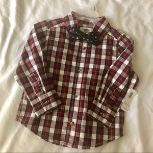 NWT Boys Holiday Button Down